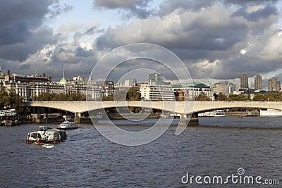London in windy weather
