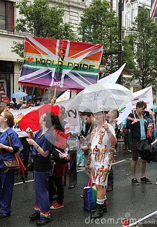 London World Gay Pride 2012 Editorial Image