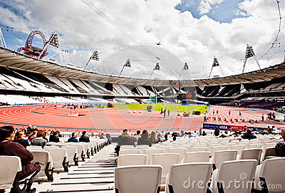 Londra 2012: stadio olimpico Immagine Editoriale