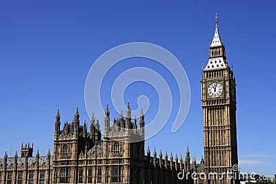 Londres, Chambres du Parlement et grand Ben
