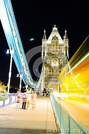Londyn most, noc