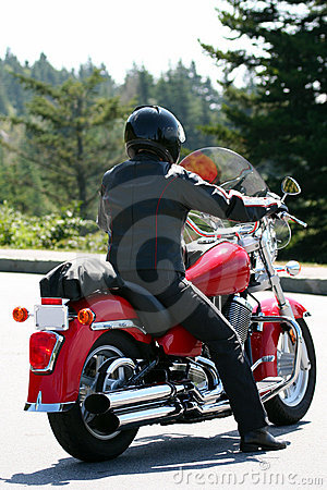 Lone Motorcycle Rider