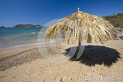 Lone Palapa on a Beach
