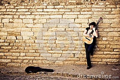 Lone street artist