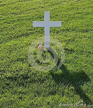 Lone white cross
