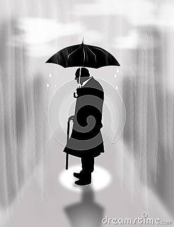 Free Loneliness, Rain Stock Photos - 47006293
