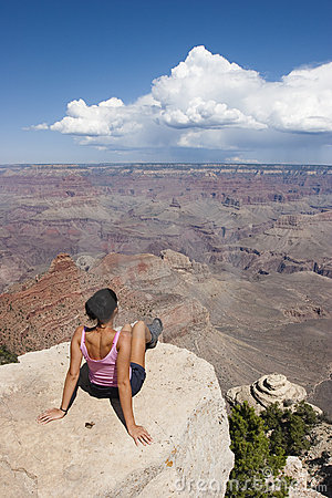 Loneliness women in Grand Canyon USA