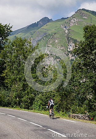 Lonely Amateur Cyclist Editorial Stock Photo