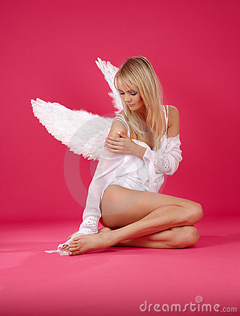 Free Lonely Angel Stock Image - 4763161