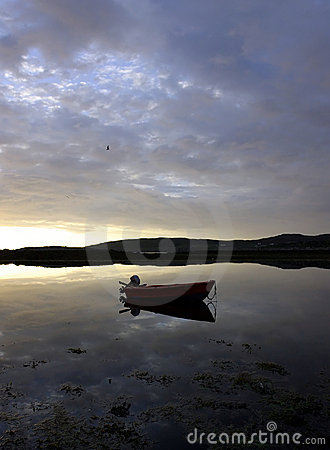 Free Lonely Boat Stock Photography - 51022