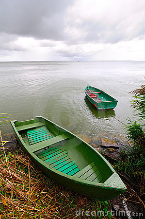 Free Lonely Boats Stock Photography - 10841812