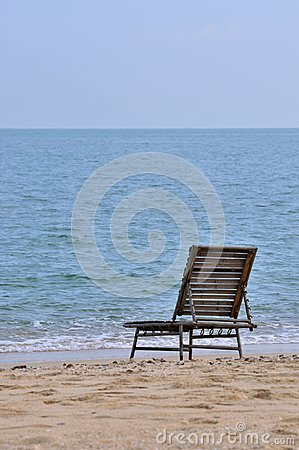 Lonely chair at sea beach