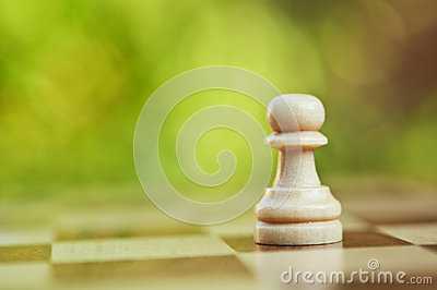 Lonely chess pawn