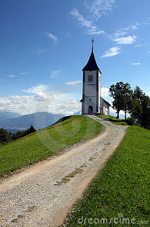Free Lonely Church On A Hill Stock Images - 14094934