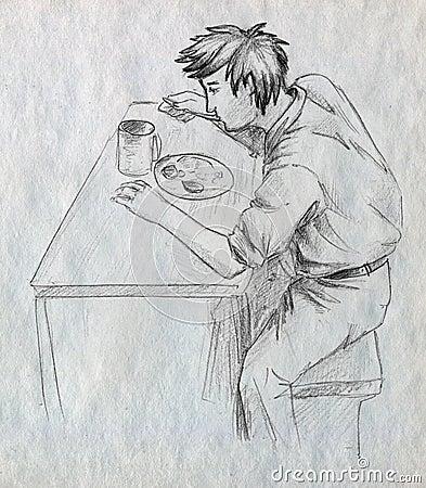 Lonely dinner