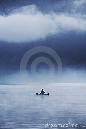 Free Lonely Fisherman Royalty Free Stock Photo - 862285