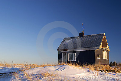 Lonely House Stock Image - Image: 2208841