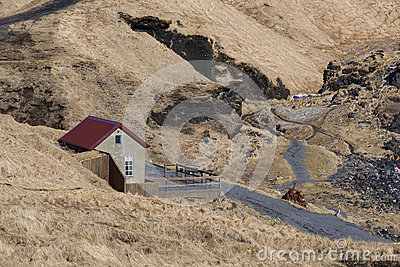 Lonely house in iceland stock photo image 65440281 for Iceland lonely house