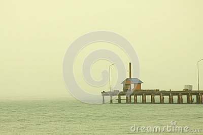 Lonely house in sea