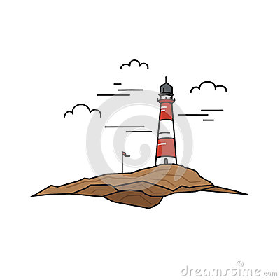 Free Lonely Lighthouse On A Background Of Rock And Sky. Travel Concept. Stock Photo - 85131750