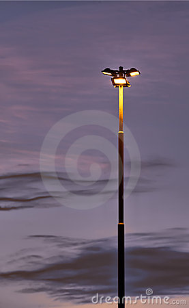 Lonely lighting pole