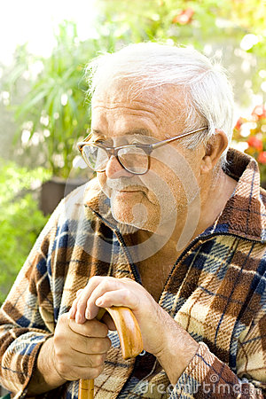 Free Lonely Old Man Royalty Free Stock Images - 26366239
