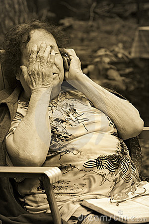 Free Lonely Old Woman Royalty Free Stock Photos - 3010118
