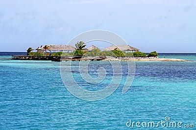 Lonely paradise island