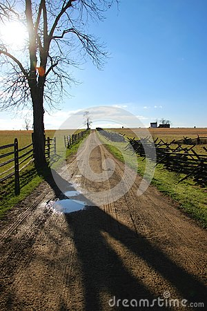 A Lonely Road to Gettysburg Stock Photo