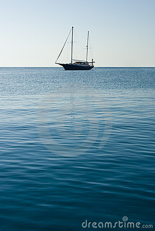 A lonely Sailboat