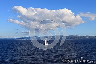 Lonely sailboat (Croatia)
