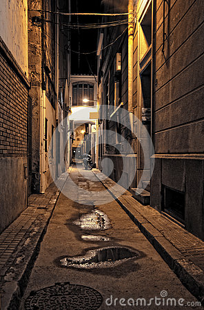 Free Lonely Street At Night Stock Image - 31939861