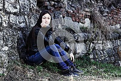 Lonely teenage girl