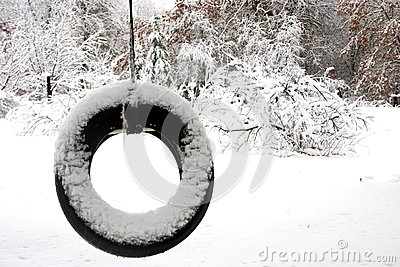 Lonely tire swing