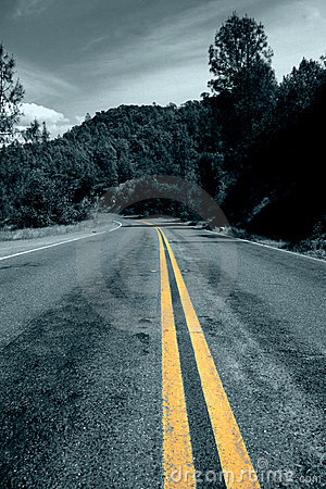 Free Lonely Winding Road Royalty Free Stock Photo - 122905