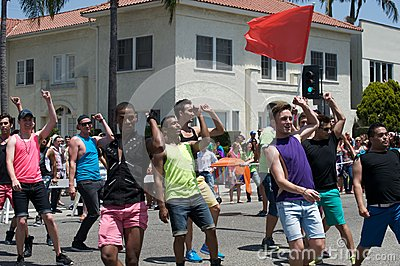 Long Beach Lesbian and Gay Pride Editorial Image