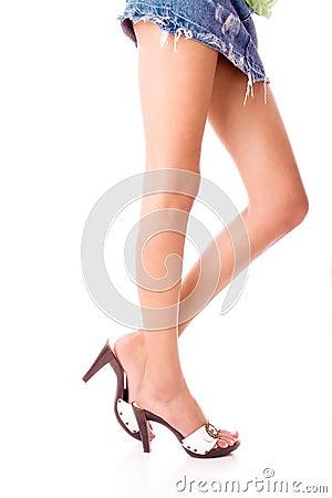 Free Long Beautiful Legs Stock Image - 2578081