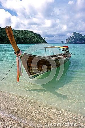 Free Long Boat - Ko Phi Phi Don, Thailand Stock Photo - 1739250