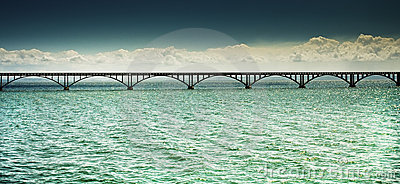 Long bridge over the sea