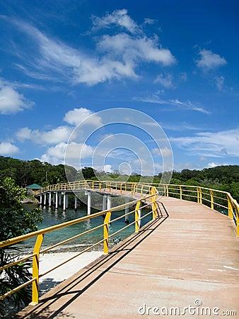 Long Bridge in Roatan