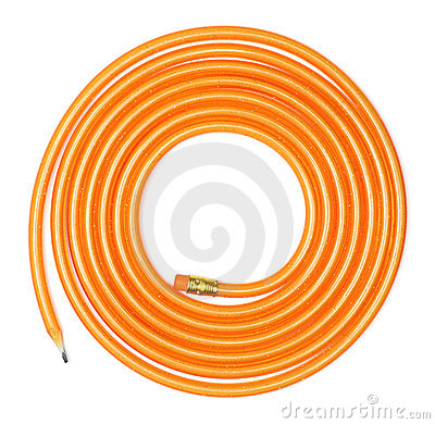 long Coiled Flexible Pencil
