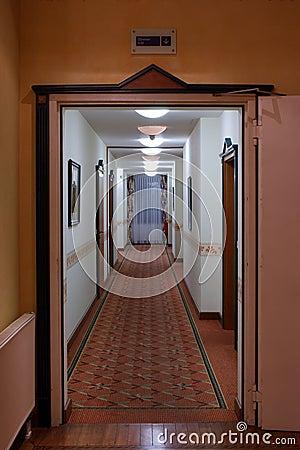 A long corridor