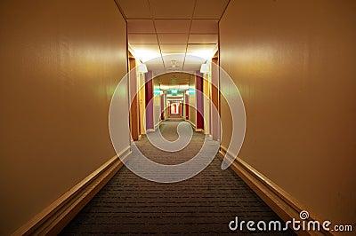 Long corridor of  hotel