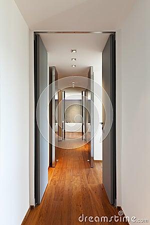 Long corridor, interior