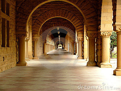 Long corridor at Stanford