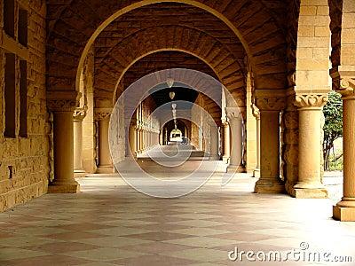 Long corridor at Stanford