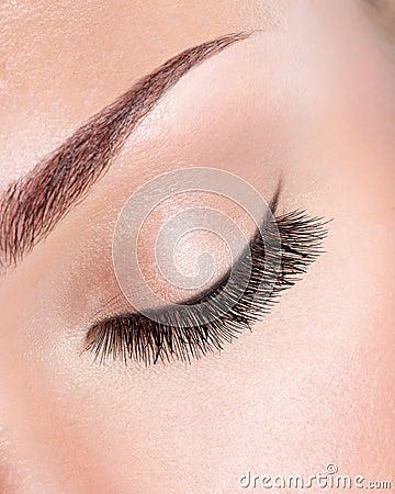Long curly eyelashes