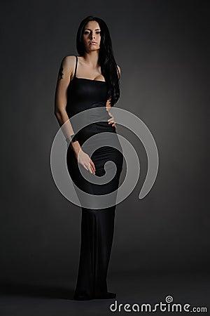 Long dark dress