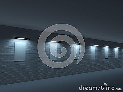 Long dark gallery