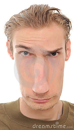 Long Distorted Face